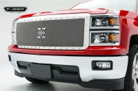 X METAL Custom Chrome Mesh Chrome Studded Grille