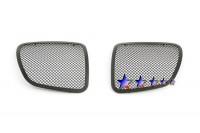 All Black Mesh Grille Inserts (2pc)