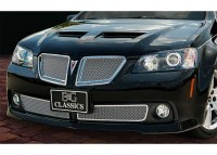 Stainless Steel Chrome Mesh Custom Grilles (4pc) (Polished)