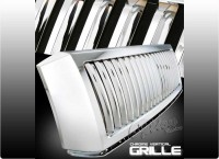 All Chrome ABS Replacement Vertical Bar Style Custom Grille