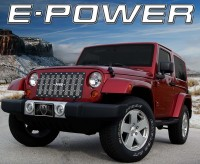 E-POWER Custom Black & Chrome Studded Mesh Grille Vertical Bars