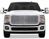 All Chrome Complete Replacement Vertical Bar Style Grille