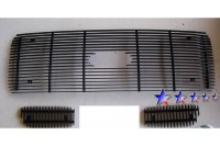 Billet Grille 3pc Bolt-On w/Logo Opening (All Black)