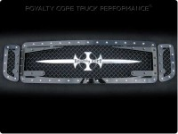 Custom Black 3D (3pc) Mesh Grille Royalty Logo & Sword