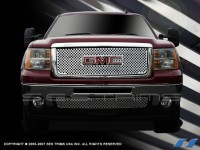 Denali Style Chrome Grille Logo Opening (Upper & Lower)