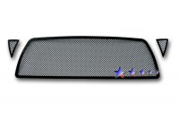 All Black Stainless Steel Mesh Grille Overlay (3pc)