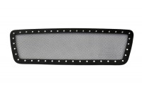 Black Mesh Chrome Studded Custom Grille (Black)
