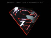 Universal Grille Logo - Superman (Black on Red)