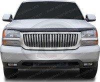 ABS All Chrome Replacement Vertical Bar Style Grille