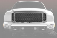 Complete Replacement Chrome Grille w/Chrome Mesh Inserts