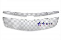 Cross Mesh Stainless Steel Grille Overlay (2pc)