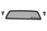 Black Mesh Chrome Studded Grille (3pc)