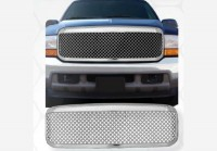 All Chrome Replacement Mesh Style Grille Shell