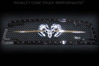 Universal Grille Logo - Custom Ram Skull with Sword