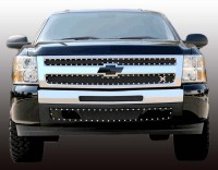 X METAL Custom Black Mesh Chrome Studded Grille (2pc)