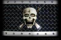 Universal Grille Logo - Special Ops w/M4 Rifles (Airbrushed)