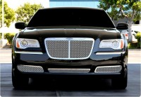 Custom Stainless Steel Chrome Replacement Mesh Grille w/Center Bar
