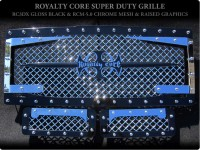 Royalty Core Custom Chrome & Black 3D 3pc Mesh Grille