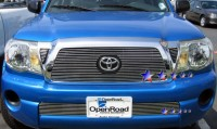 Billet Grille Overlay & Side Vents (Logo Opening) (3pc)
