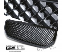 All Black Replacement Mesh Style Grille