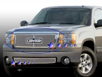 Stainless Steel Mesh Grille Overlay (w/Center Bar) (Chrome)