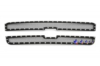 Black Mesh Chrome Studded Grille (2pc)