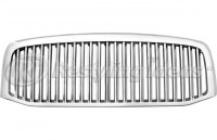 All Chrome Replacement Vertical Grille Assembly (Thin Bars)