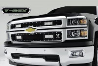 14-15 Silverado 1500 X METAL Torch Series Custom Grille w/LED Driving Lights (2pc)