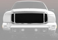 Complete Replacement Chrome Grille w/Black Mesh Inserts