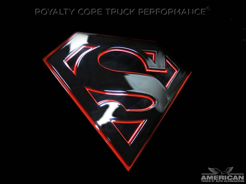 Universal Grille Logo Superman Black On Red American