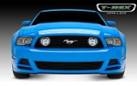 Billet Grille Overlay (GT) (With Logo Opening) (Black)