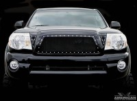 X Metal Custom Mesh Black Studded Grille Insert (3pc)