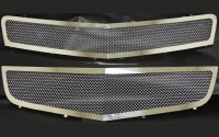Stainless Steel Chrome Mesh Grilles (2pc)