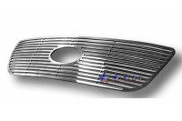 Machined Solid Billet Grille w/Logo Opening (Polished)