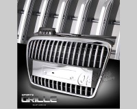 ABS Replacement Custom Chrome/ Black Vertical Bar Style Grille