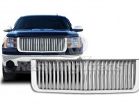 ABS Replacement Vertical Bar Style Grille (Chrome)