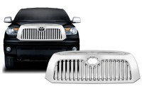 All Chrome ABS Custom Complete Replacement Vertical Bar Grille