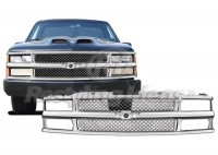 All Chrome ABS Custom Mesh Style Replacement Grille