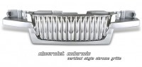 ABS Triple Chromed Replacement Thick Vertical Bars Grille
