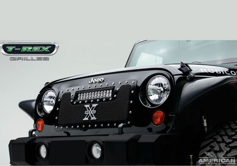 Torch Series X Metal Custom Grille w/LED Driving Lights - Click Image to Close