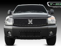 X METAL Custom Black Mesh Chrome Studded Grille