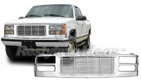 All Chrome Replacement Grille Shell (Billet Style)
