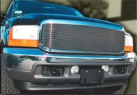 Complete Replacement Chrome Grille w/Polished Billet Grille (No Outer Bars)