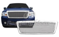 Mesh Style Chrome ABS Replacement Grille