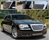 Heavy Mesh Custom Chrome Plated Grilles (Upper & Lower)