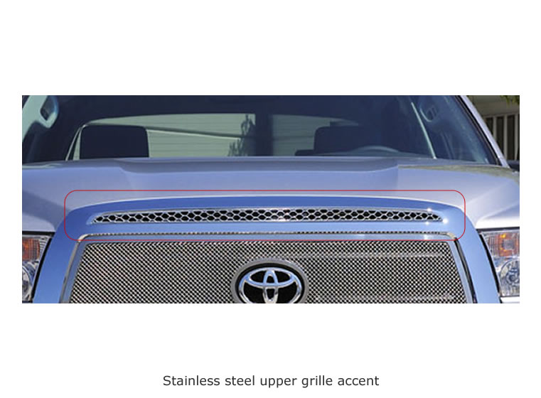 upper class stainless steel mesh grille overlay 54961