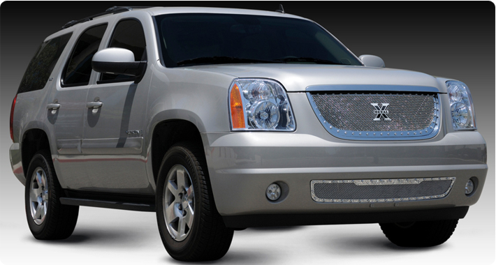 07-11 GMC Yukon Billet Grille : Custom Grilles : Chrome Parts & Accessories