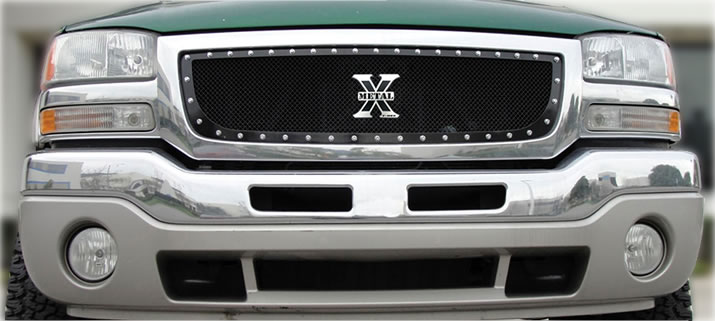 GMC Sierra Classic Billet Grills Chrome Mesh Grilles - 2006 acura rl grill